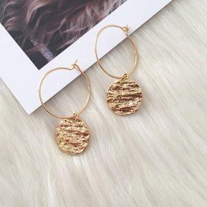 🌺4 Items $25🌺 Round Disk Hoop Earrings NWT
